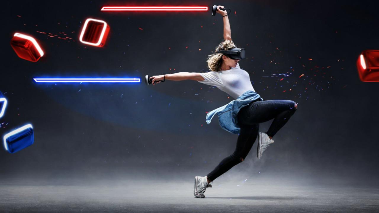 Jugando con Oculus Quest a Beat Saber