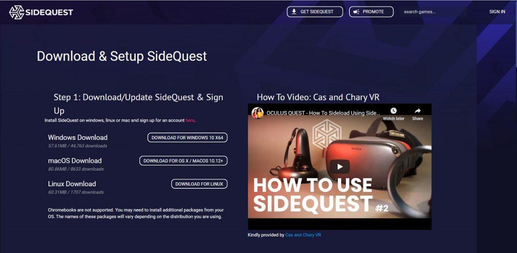 Pagina web de SIdeQuest