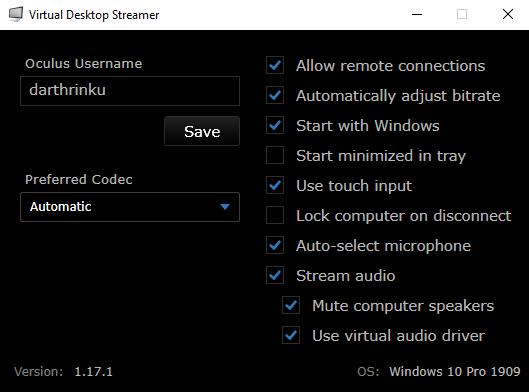 Ilustración de Virtual Desktop Streamer en pc