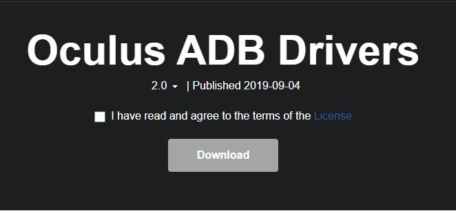 Drivers ADB para Oculus Quest