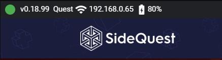 Connectando Oculus Quest a SideQuest para obtener permisos