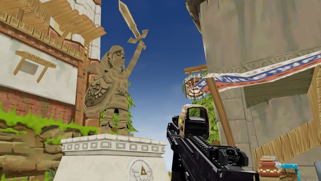 Figura de Zelda en mapa de Contractors VR