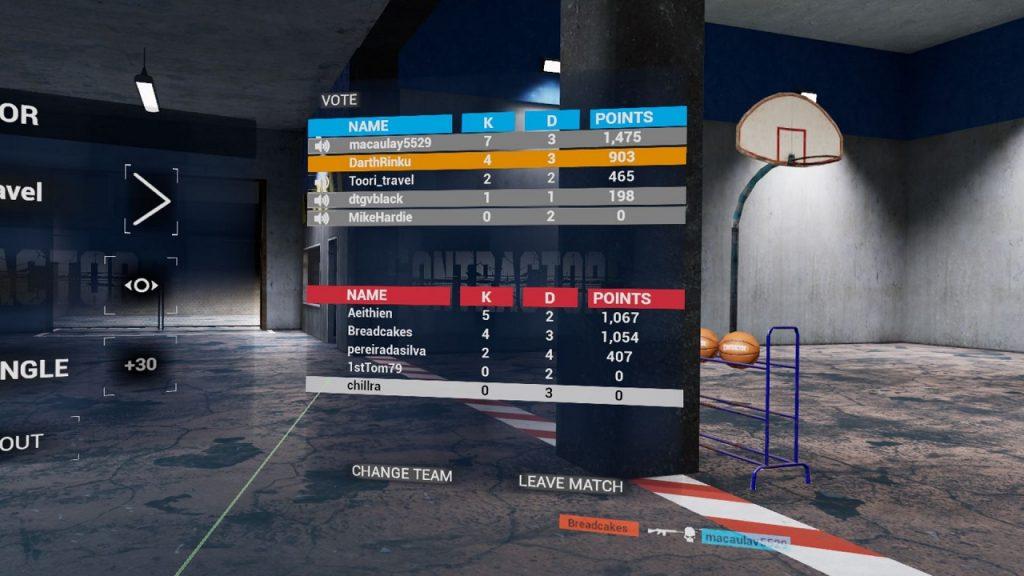 Menu de puntuaciones in-game