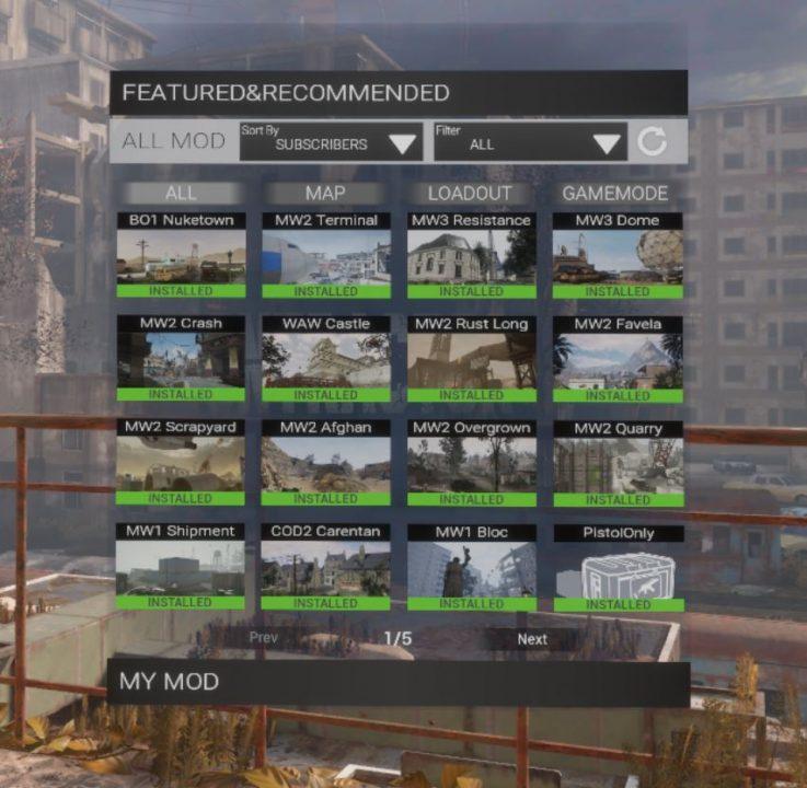 Imagen de los mods de Contractors VR