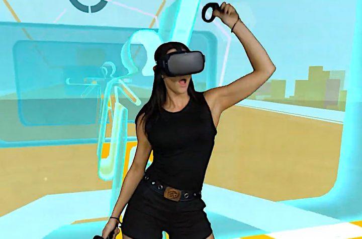 Mujer bailando en OhShape VR