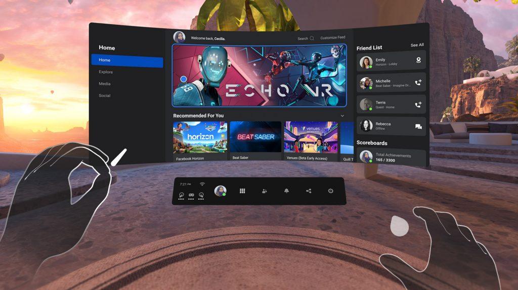 Oculus Home de Oculus Quest 2