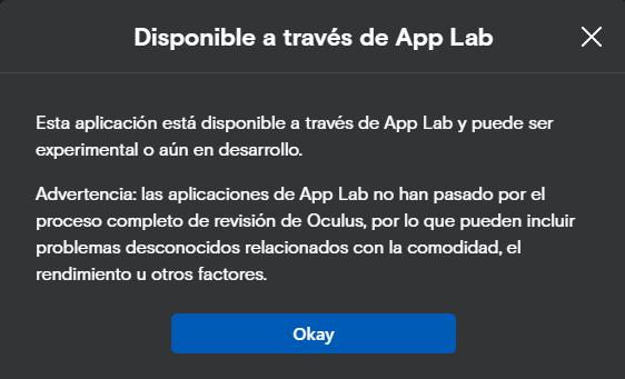 App Lab la tienda alternativa para aplicaciones de Oculus Quest