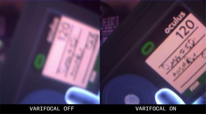 muestra  de lente varifocal