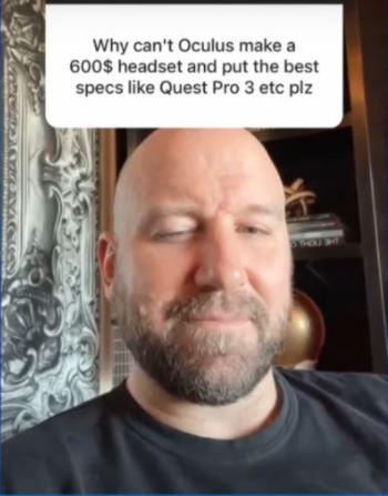 Bosworth habla guiña ante la pregunta sobre Oculus Quest 2 PRO