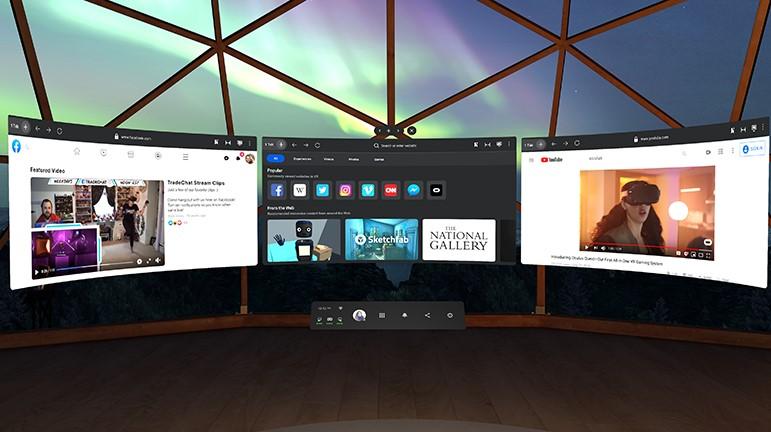 V31 de FAcebook Oculus Quest 2 podrá guardar contraseñas en el navegador