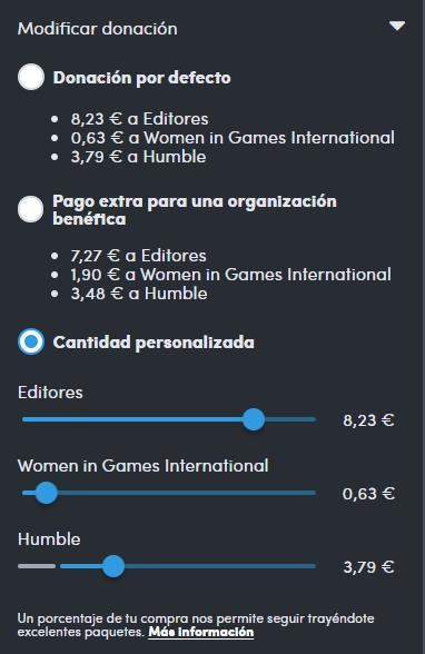 Modificación de la donación de los juegos de Realidad Virtual del Humble Bundle